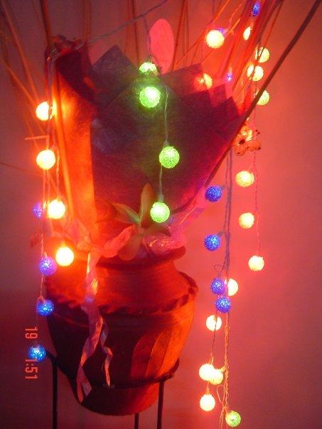 colourful fairy lights
