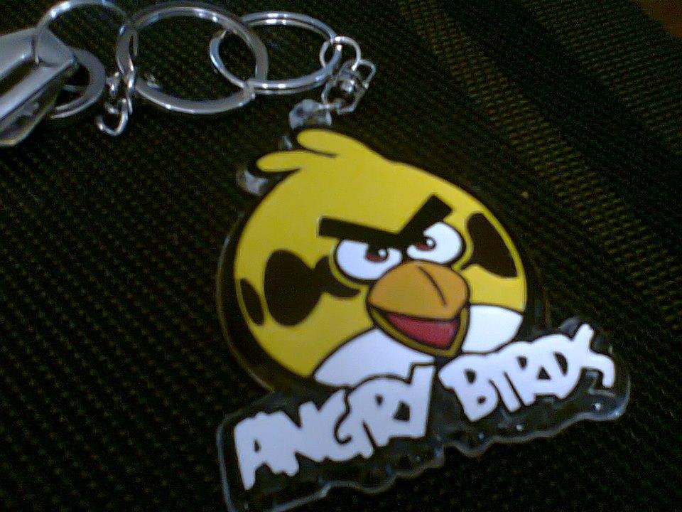 angry bird key chain