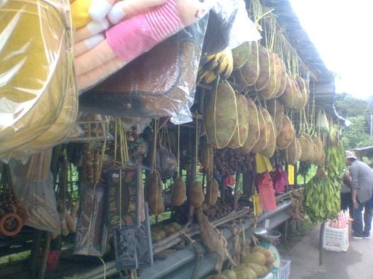 Orang Asli stall at Pos Raya Pulai, Kg Kepayang